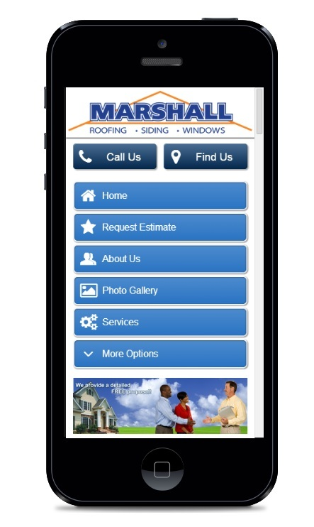 Northern Virginia and Maryland's Marshall Roofing Siding & Windows mobile site launch