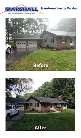 Roof replacement before and after transformation pictures. Northern Virginia Roofing Contractors