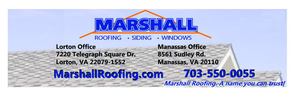 Northern VA Marshall Roofing Siding Windows Newsletter