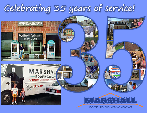 Marshall Roofing Celebrates 35th anniversary