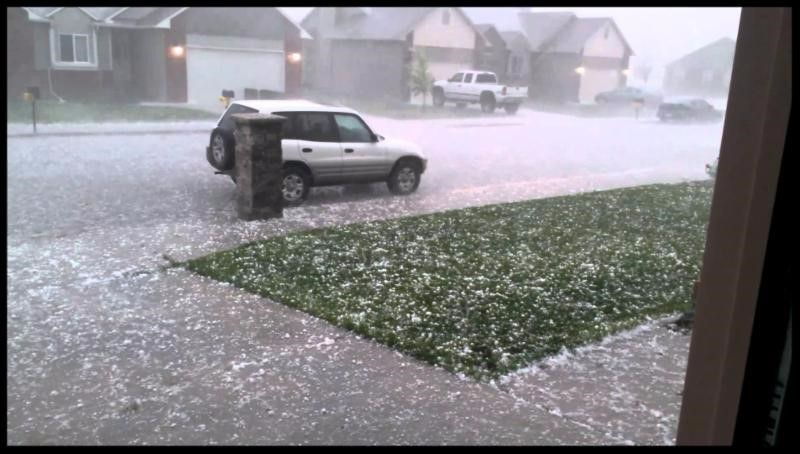 hailstorm with home